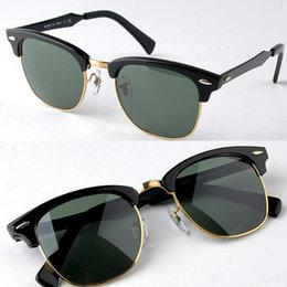 Wholesale 3507 aluminium magnesium sunglasses N5 black green mm sunglasses for men uniex sun glasses half frame sunglasses freeshipping