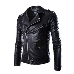 Wholesale Black Fashion Men PU Leather Jacket Riding Clothes Man Jacket Male Coat Men s Jackets Veste Homme Manteau Hiver Homme