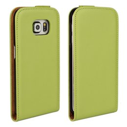 For Samsung Galaxy S6 G9200 Texture Genuine Flip Leather Case Cover