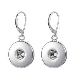 Wholesale NOOSA chunks metal snap button earrings Fashion hot Interchangeable Jewerly for women