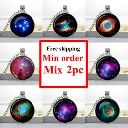 NS--0009 NEBULA NECKLACE Horsehead Jewelry universe Pendant Monoceros Galaxy necklace Space for him Art
