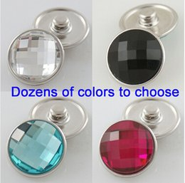 Wholesale 15 off OEM Changeable dozen of colors mm faceted crystal snaps button Bracelet with copper Snap bottom fit ginger snaps jewelry