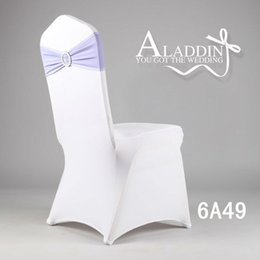 Wholesale Wedding chair cover decoration Amazon chair bands covers for wedding spandex chair band with buckle spandex sash
