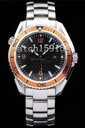 Hot sale mechanical automatic stainless watches orange bezel steel bracelet brand watch men wristwatch 305