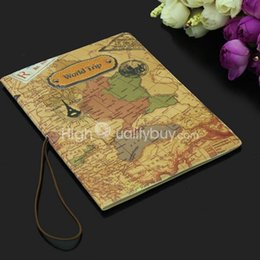Good PU Leather World Map Passport Cover Card Package Ticket Travel Bag New