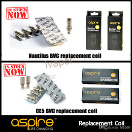 Original Aspire Nautilus BVC Coil 0.7 1.6 1.8 Ohm Coils Head Core For Nautilus Mini 2 CE5 k1 ETS glass