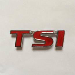 Wholesale Auto Red D TSI TIGUAN Grille Emblem tsi Car VW Front Hood Grille Badge PASSAT JETTA GOLF