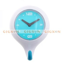 Wholesale Bathroom waterproof Shower Wall Clock Gray hook