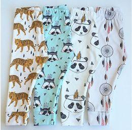 Wholesale Boys Girls Harem Pants Panda Teepee Pants For Toddler Baby Girl Boy Harem Pants Reccoon Dreamcatcher Tiger Children Clothes