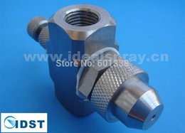 Wholesale Siphon type air atomizing nozzle spray partten full cone flow rate adjustable