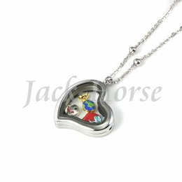 stainless steel high quality 30mm love heart locket magnetic floating locket pendant,Wholesale charm glass lockets necklace