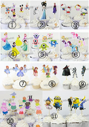 Frozen Princess Monsters University Mickey Mouse Cupcake Sticks Printing Paper Cupcake Topper Inserted Card Birthday Party Decoration DHL