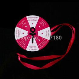 Wholesale Sex products adult Bachelorette bingo wheel drinking game Hen night party event supplies party favor fit wedding dress new order lt no t