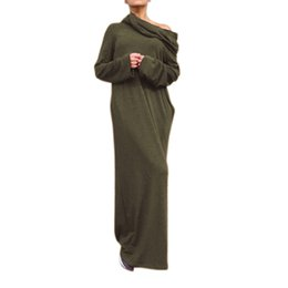 Preself autumn winter Sexy Women Off Shoulder Hooded Shirt Maxi Long dresses Party Cocktail Casual plus size fall Dress vestidos