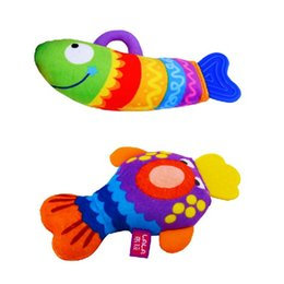Wholesale Lalababy book hippo1 fish teethers educational baby toys cloth