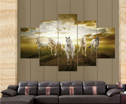 Wholesale High Quality Cheap Price Art Pictures Running Horse Large HD Modern Home Wall Decor Abstract Canvas Print Oil Painting F