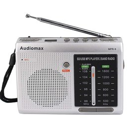 Wholesale FM AM Band Radio Receiver REC Recorder USB SD Card MP3 Player Silver Y4151D