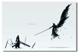 Wholesale FF7 Final Fantasy VII Advent Classic Fashion Movie Style Custom Poster Print Size x60 cm Wall Sticker U123355
