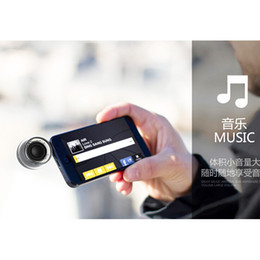 Wholesale DHL Mini SmartPhone Speakers F10 Phone Speaker Portable Amplifier for Apple iPhone Plus S Plus Samsung Note iPad Air Laptop mm Jack