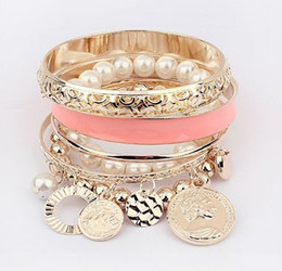 Wholesale Pearl Hollow Out Multilayer Bracelet Women s Ladies Valentine s Day Gift Girls Jewelry Accessories Black Orange Pink Blue Red Apricot M3160