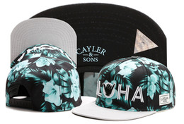 Wholesale 2016 Adjustable Flower Beautiful CAYLER SONS ALOHA snapbacks Hats flat brim men snapback caps Cayler and sons hat baseball hats TY