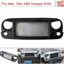 Wholesale The Newest Type Car Styling Black ABS Avenger Grille With Bug Screen For Offroad Jeep Wrangler