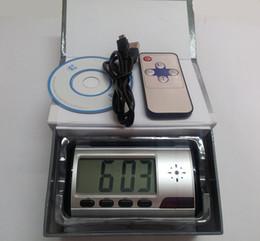 Wholesale 30 Spy Hidden Camera Clock HD Spy Clock Cameras Alarm Clock Motion Detector Sound Recorder Digital Video PC With Remote Contro