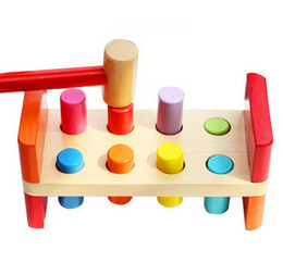 Wholesale Models Building Toy Model Building Kits Perfect Quality Wooden Pounding Bench With Hammer Kids Baby Activity Play Toys