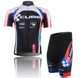 Descuento baberos ciclismo cubo Pro Cube un ciclo Jersey del babero Juego al por mayor-Nuevo 2015 hombres del verano Roupas de Ciclismo de bicicletas ciclo la ropa de los hombres de Mtb Sportwear