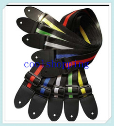 Wholesale DHL Freeshipping Affordable And Durable Nylon leather Guitar Strap Belt Accessory Many Colors