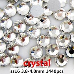 wholesale 1440pcs   lot crystal color ss16 (3.8-4.0mm) crystal glass Rhinestone flatback rhinestones silver foiled free shipping