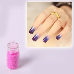 12 Color Nail Glitter 3D Nail Art Decoration Nail Art Bottle Tip Set Free shipping # FM031