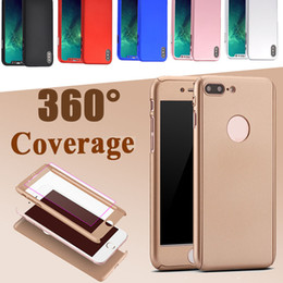 360 Degree Full Body Protective Slim Hard PC Full Cover Case With Tempered Glass Screen Protector For iPhone X 8 7 Plus Samsung Note 8 5