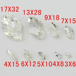 Wholesale Stone Color Dresses - Marquise Shape Crystal Stones Crystal Color Many Sizes To Choose Glass Beads Great For Shoes Dress Home Decoration