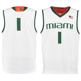 Wholesale No Miami Hurricanes College Basketball Jersey embroidery setback cheap Jerseys men size S XL fast shipping