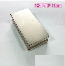 Neodymium magnet n52 n50 100X50X10MM Neodymium Magnets super strong Rare Earth Magnets free shipping