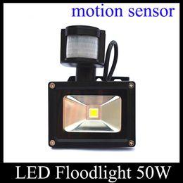 Wholesale 50W New Motion Sensor LED Floodlight Light Induction Sense Lamp V For Stair Motion Sensor Light Aluminum Alloy Flood Lights TGD034