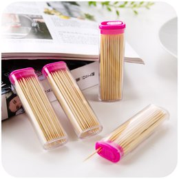 Wholesale vanzlife Affordable boxed portable thin bamboo toothpick toothpick natural environment can carry refined