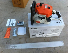 Wholesale ST MS070 Chainsaws Power Chain Saw KW CC gasoline imports Saws Cutting Machine Sawmill Logging Factory outlets Guides m HOT