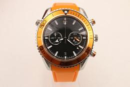 Professional Quartz SPEED Watch Classic Black Dial Sochi.ru 2017 Planet Ocean Sport Watch Orange Rubber Belt Feminine Watch