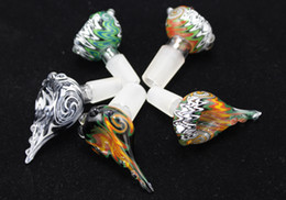 Wholesale Seashell Glass Heady Bowls Bong Bowl mm Glass Bowl mm mm Male Joint for glass water bong smoking pipes