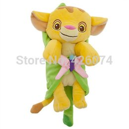 Wholesale New Original Lion King Baby Simba With Blanket Plush Toys CM Kids Stuffed AnimalsToys For Children Christmas Gifts Baby Toys