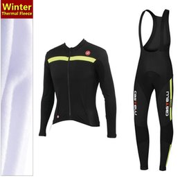 2015 hot sale! Winter Fleece cycling jersey long sleeve Cycling clothing wear & bib Pants Set winter thermal fleece cycling clothing