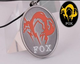 Wholesale MGS Metal Gear Solid V The Phantom Pain Fox Unit Logo Necklace Metal Pendant High Quality Alloy Necklace Size cm