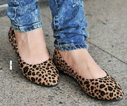 Wholesale Sexy New Fashion Casual Shoes Womens Leopard Print Ballet Ballerina Flat Pump Ballet Dolly