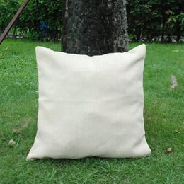 Wholesale Blanks Home Decorative Soft One Seat Square Burlap Pillow Case Cover Free Shipping Via FedEx DOM106121