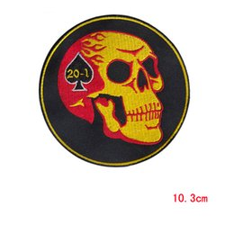 Perfect SKULL Embroidered iron on Patches Custom Design Logo fabric applique decoration WholeSale patches for repair clothes patch
