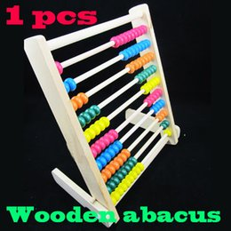 Wholesale Details about Row Wooden Wood Beads Abacus Counting Number Maths Educational Children Toy