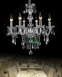 modern crystal chandeliers dining room 6 lights Chandelier with crystal pendants entrance hall chandelier led home glass arms chandeliers