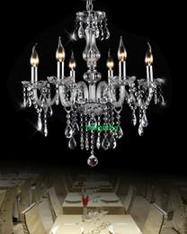 Wholesale modern crystal chandelier dining room lights Chandelier with crystal pendants entrance hall chandelier led home glass arms chandelier